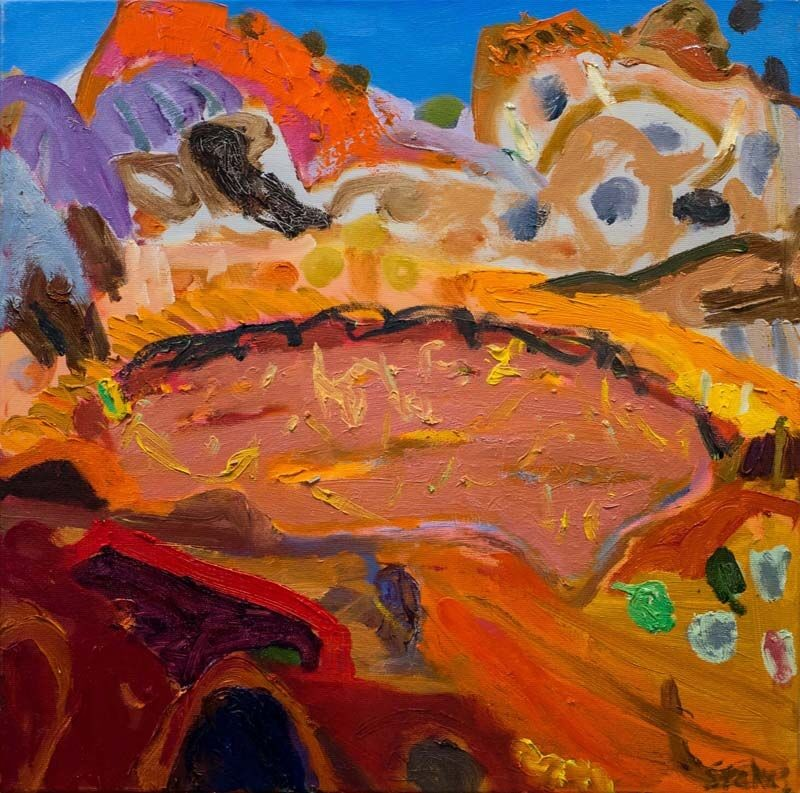 Wolfe creek crater (SOLD) by Sally Stokes