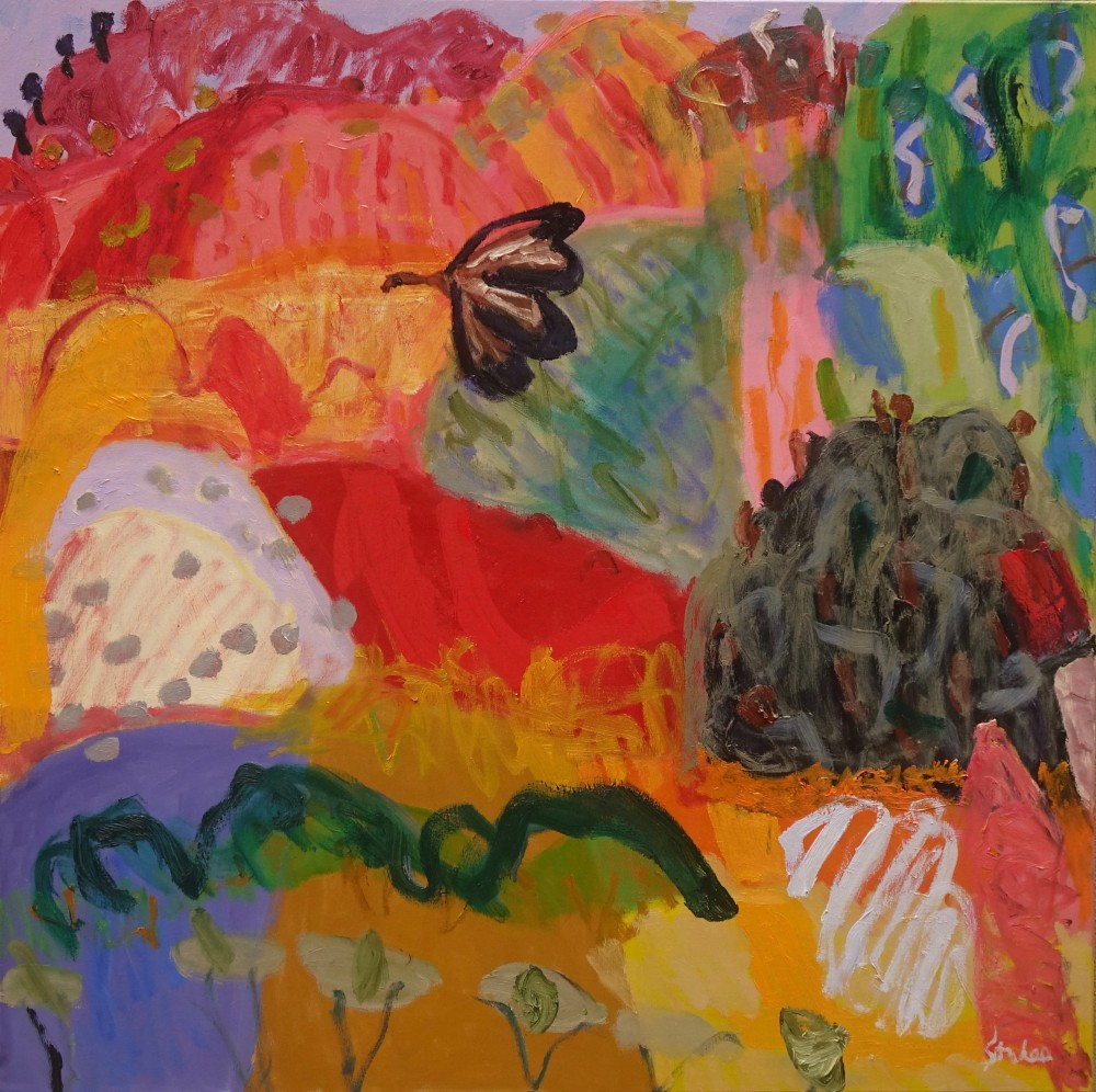Above the honey ants (SOLD) by Sally Stokes