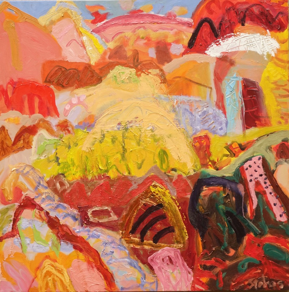 Road to Ndhala 2 (SOLD) by Sally Stokes